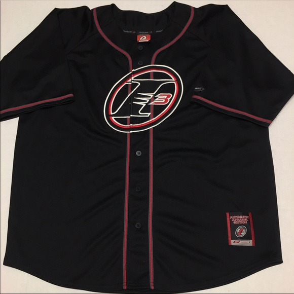 buy online 656a4 5995a Reebok Allen iverson Stitched Logo baseball jersey